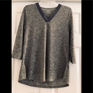 Loft Outlet 3/4 Sleeve Gray Tunic Top